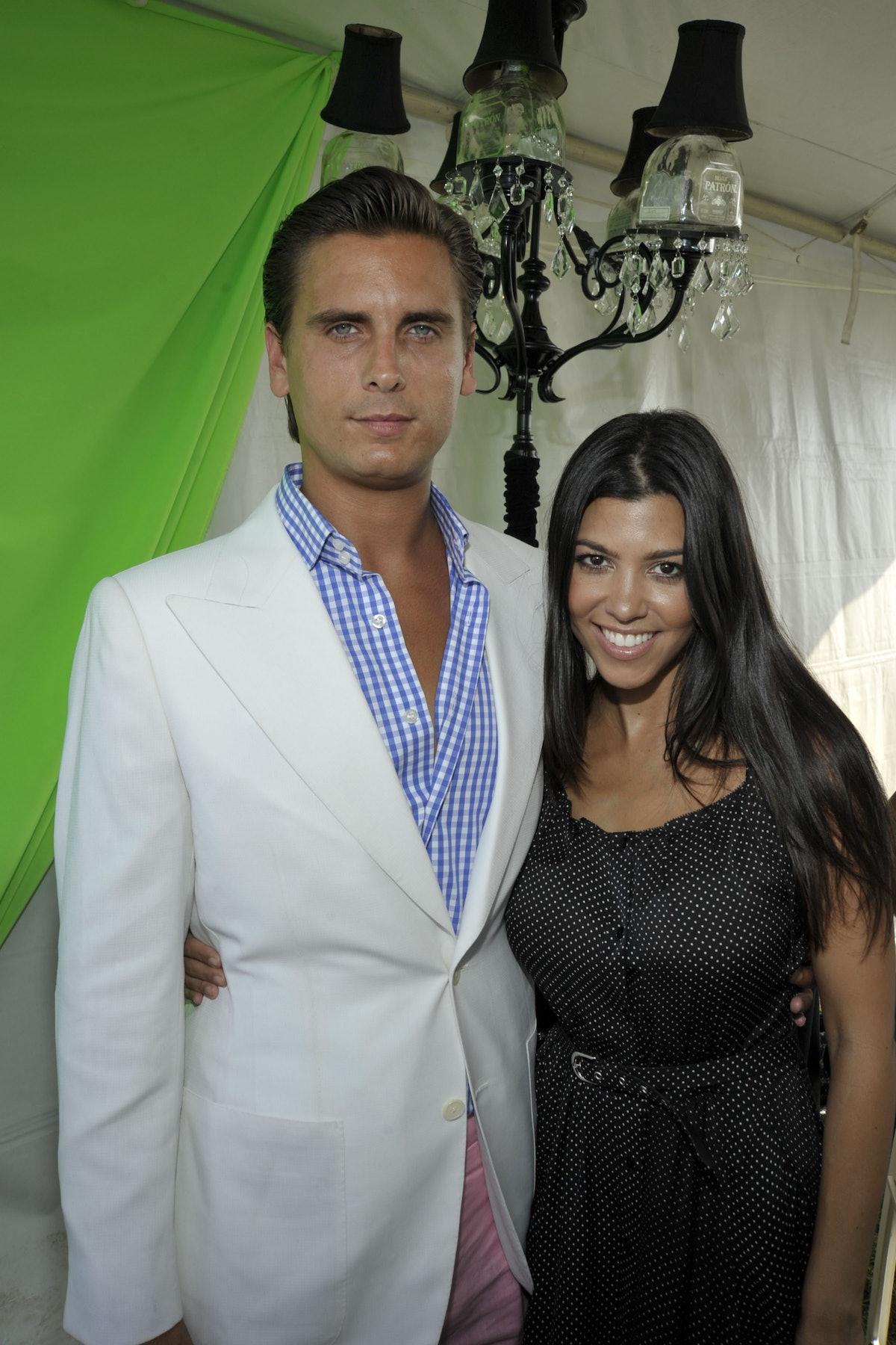 - JULY 24: Scott Disick and Kourtney Kardashian attend Mercedes-Benz Polo Challenge Opening Weekend ...
