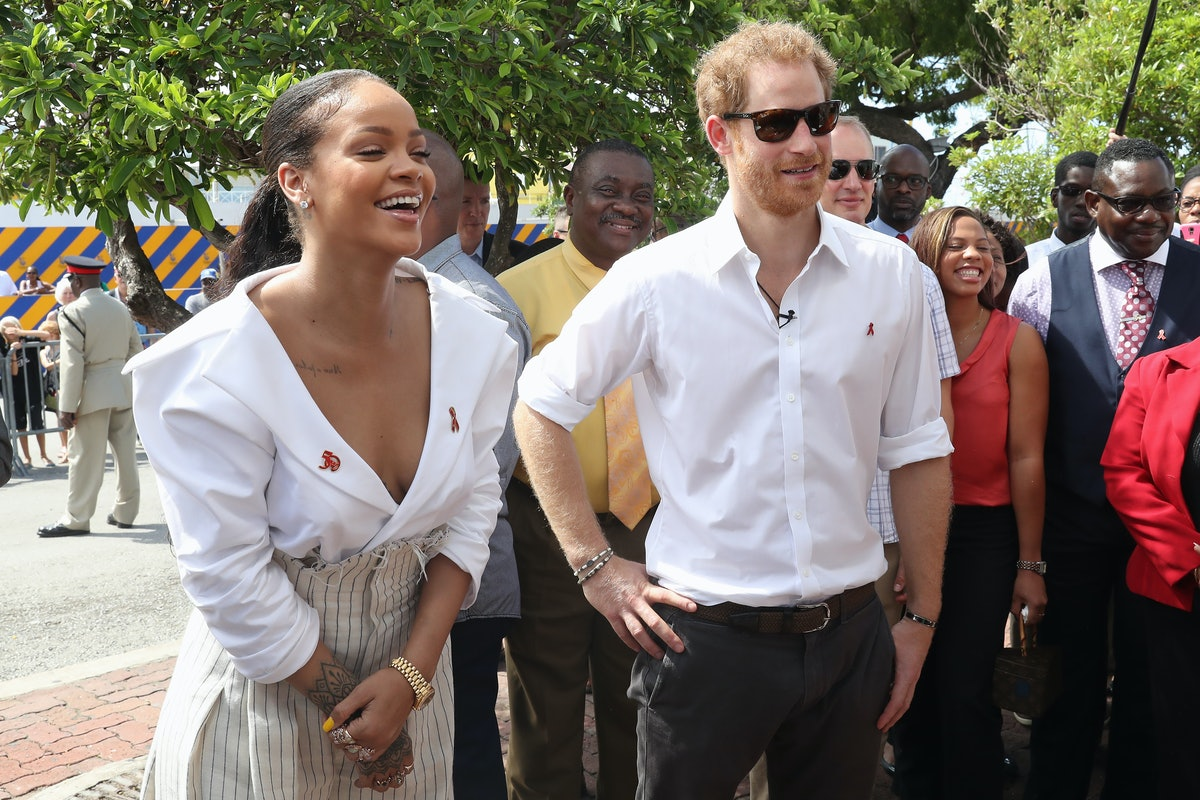 Rihanna and Prince Harry attend the 'Man Aware' event held by the Barbados National HIV/AIDS Commiss...