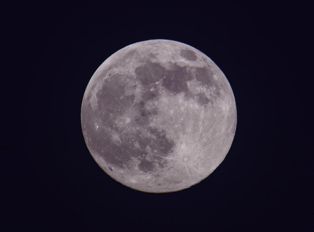 The June 2021 full moon in purple.