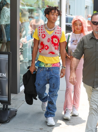 LOS ANGELES, CA - JUNE 18: Jaden Smith is seen on June 18, 2021 in Los Angeles, California.  (Photo by Bellocqimages/Bauer-Griffin/GC Images)