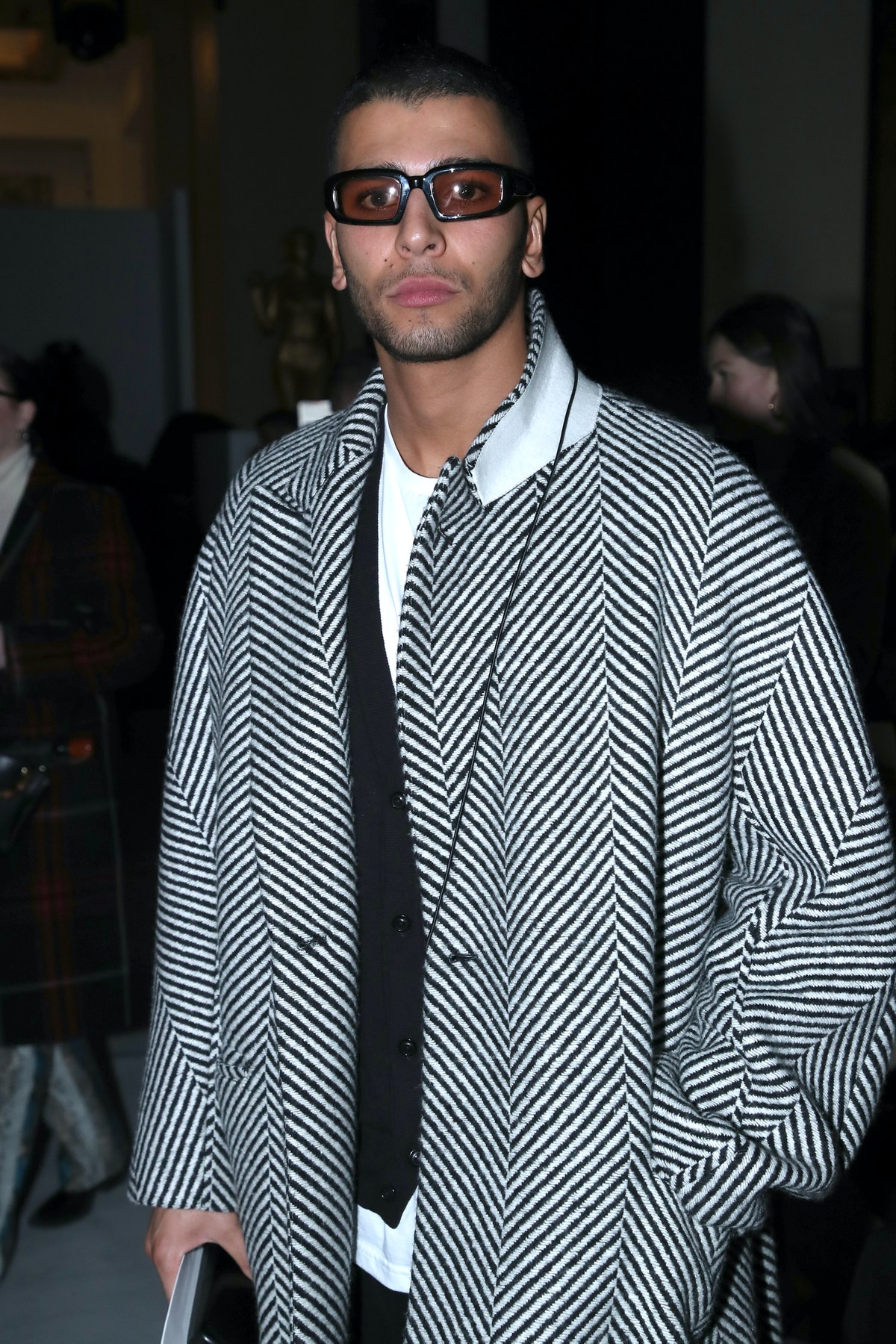 Younes Bendjima attends the Haider Ackermann show as part of Paris Fashion Week on February 29, 2020...