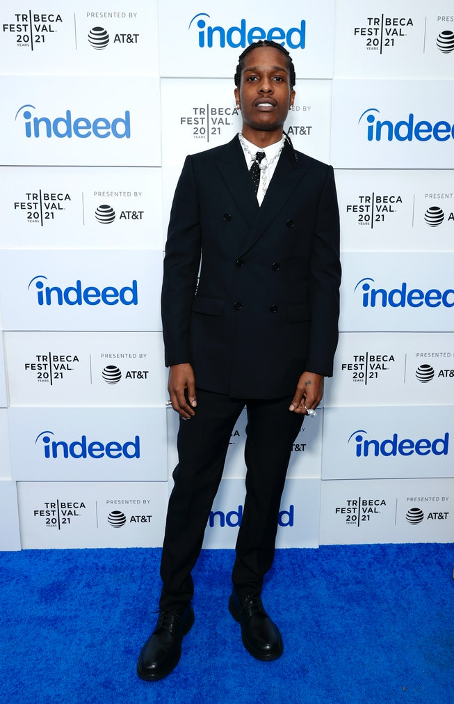 """NEW YORK, NEW YORK - JUNE 13: A$AP Rocky attends 2021 Tribeca Festival Premiere of """"Stockholm Syndro..."""