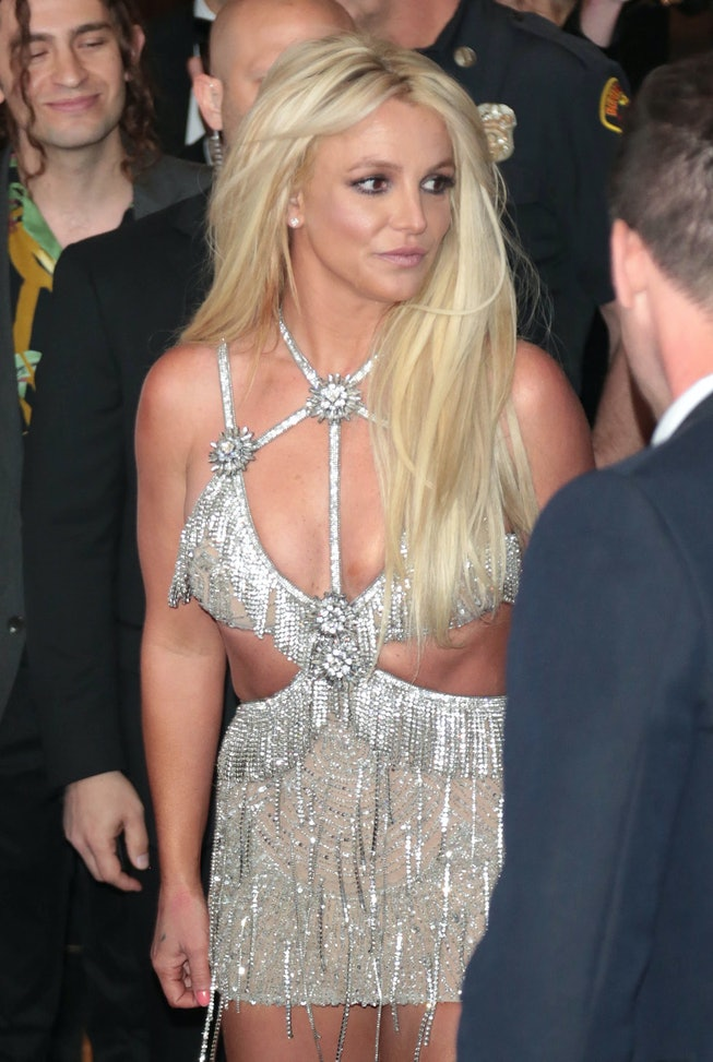 LOS ANGELES, CA - APRIL 12:  Britney Spears is seen on April 12, 2018 in Los Angeles, CA.  (Photo by...