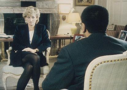 Martin Bashir interviews Princess Diana in Kensington Palace for the television program Panorama. (P...