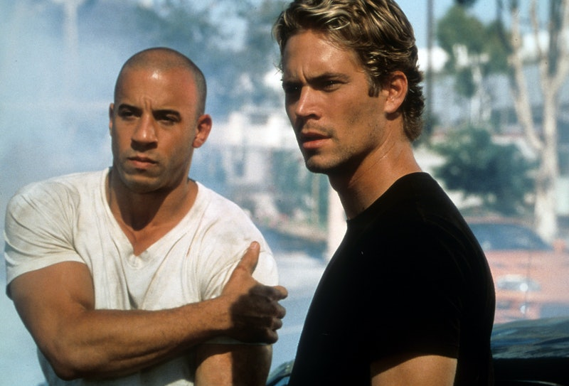 Vin Diesel and Paul Walker in a scene from the film 'The Fast And The Furious', 2001.