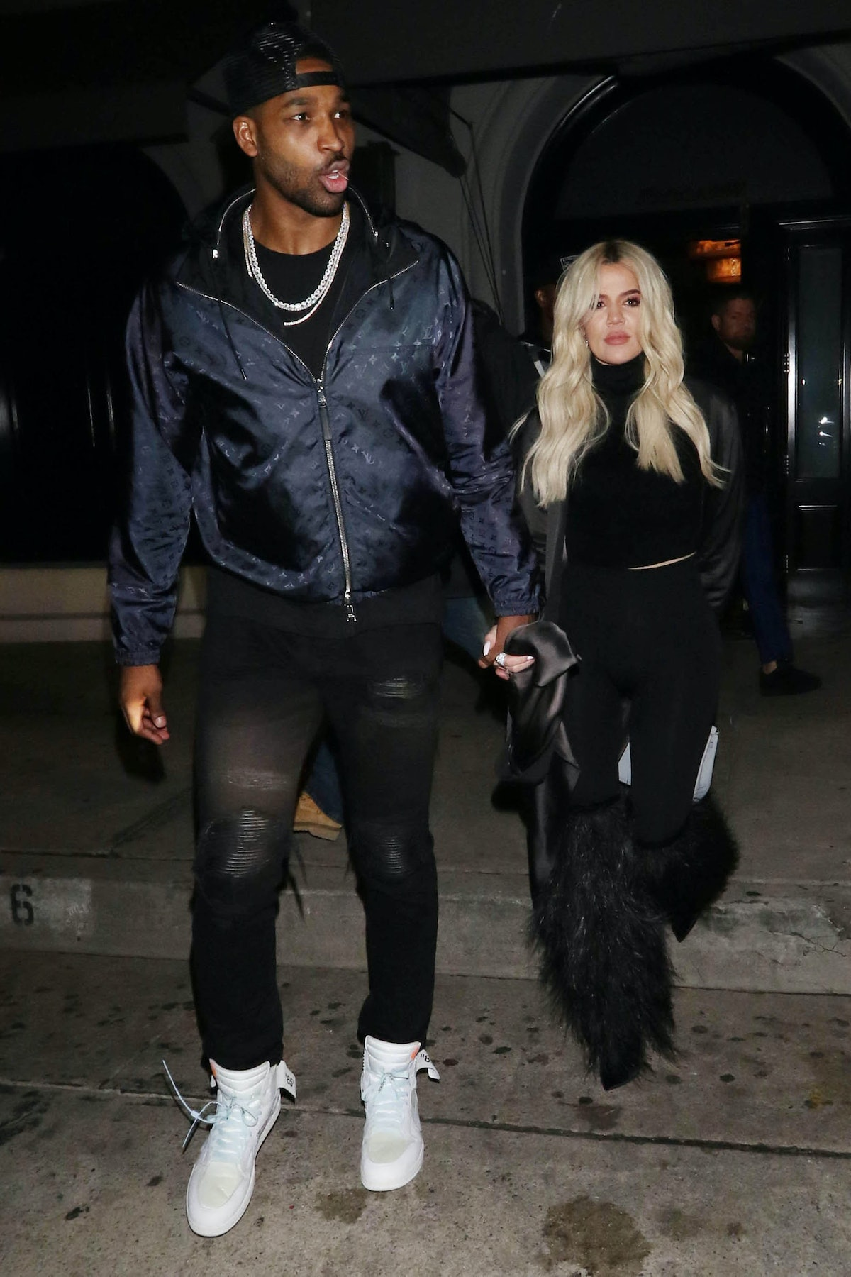 LOS ANGELES, CA - JANUARY 13:  Khloe Kardashian and Tristan Thompson are seen on January 13, 2019 in...