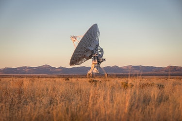 SETI uses large arrays to scan the cosmos for signals from other worlds.
