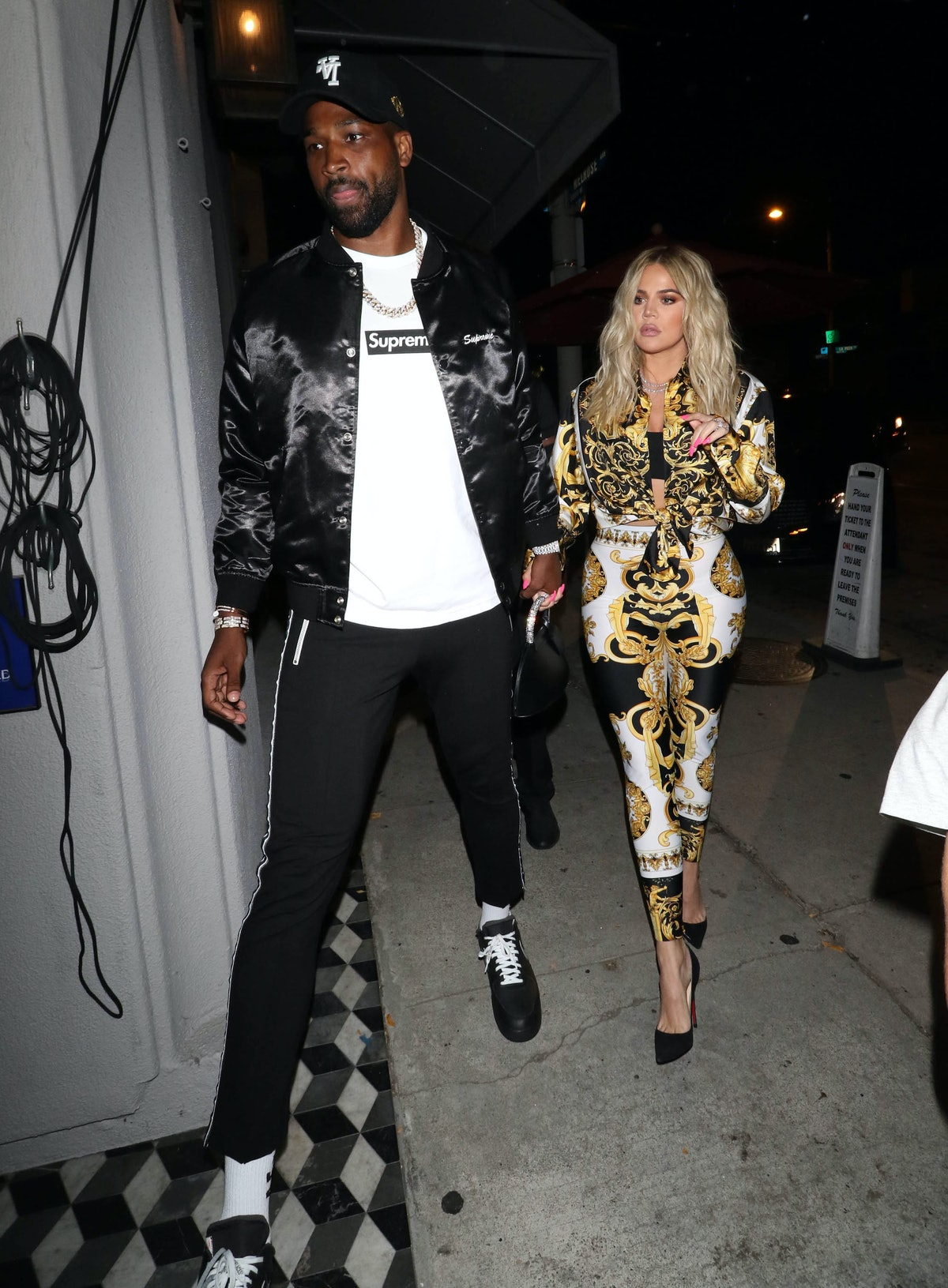 Khloe Kardashian and Tristan Thompson are seen on August 17, 2018 in Los Angeles, CA.