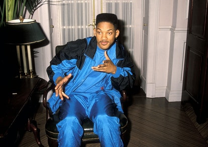 """Actor Will Smith breaks from filming """"The Fresh Prince of Bel-Air"""" on October 20, 1990 at Columbia/S..."""