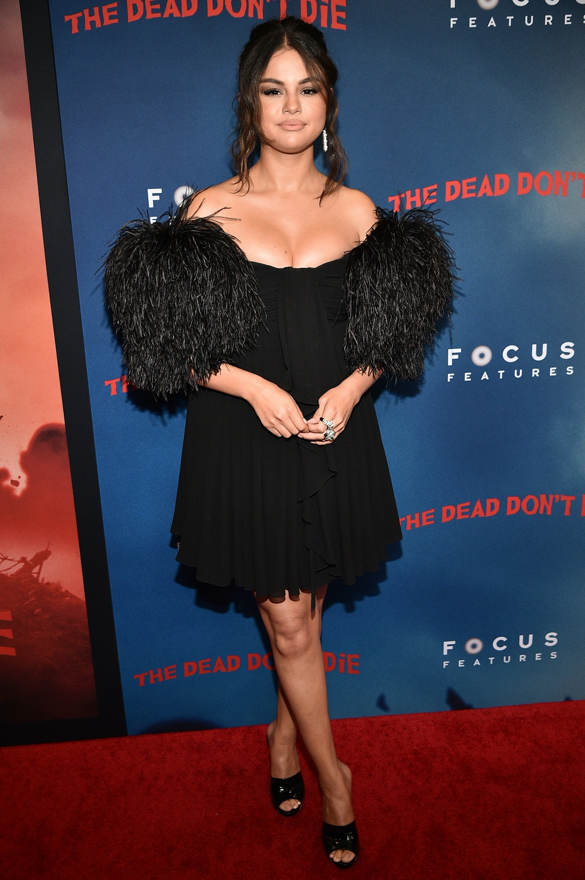Selena Gomez, pictured here at a film premiere in a black dress, said she was criticized for seeking mental health treatment in previous years.