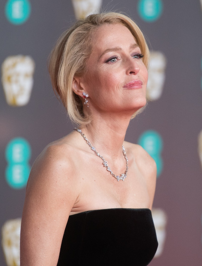 LONDON, ENGLAND - FEBRUARY 02: Gillian Anderson attends the EE British Academy Film Awards 2020 at R...