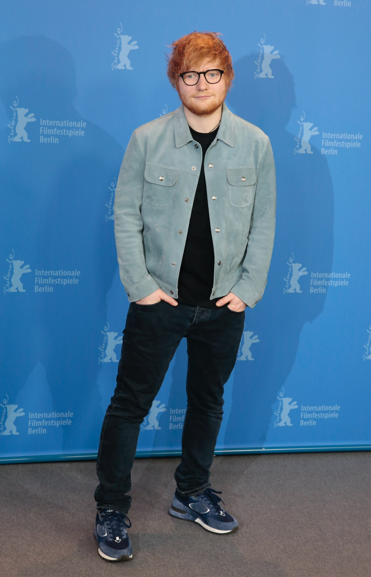 BERLIN, GERMANY - FEBRUARY 23: Singer Ed Sheeran poses at the 'Songwriter' photo call during the 68th Berlinale International Film Festival Berlin on February 23, 2018 in Berlin, Germany. (Photo by Patrick AVENTURIER/Gamma-Rapho via Getty Images)
