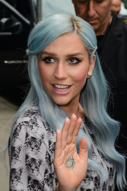 Kesha has an evil eye tattoo on her hand; while popular, some people believe that evil eye tattoos can bring bad luck.