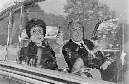The Duchess of Windsor (born Bessie Wallis Warfield, 1896 - 1986) with Earl Mountbatten (1900 - 1979...