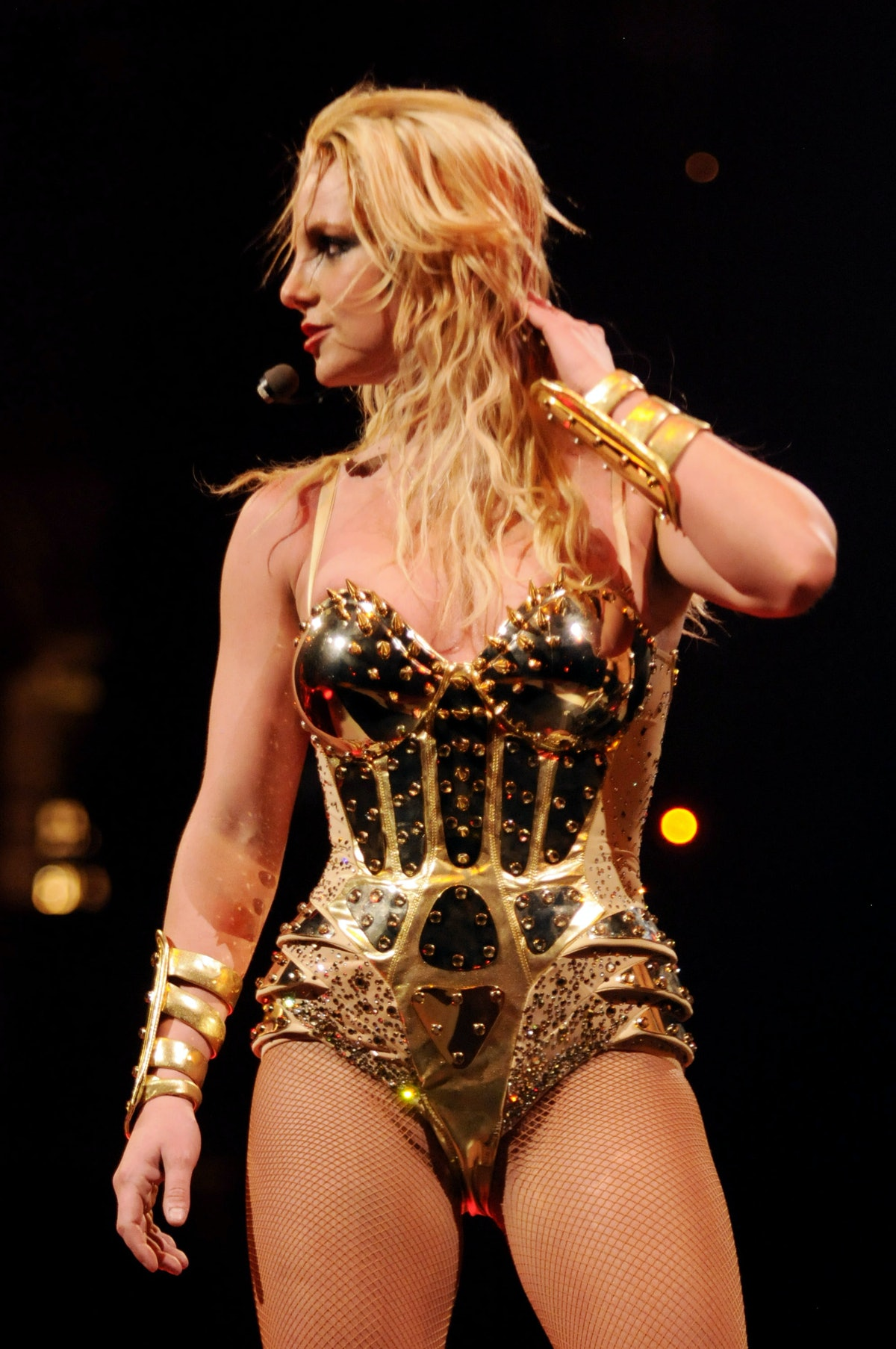 """**Exclusive Coverage**  Singer Britney Spears performs onstage during the opening night of """"The Circus Starring Britney Spears"""" tour at the New Orleans Arena on March 3, 2009 in New Orleans, Louisiana."""