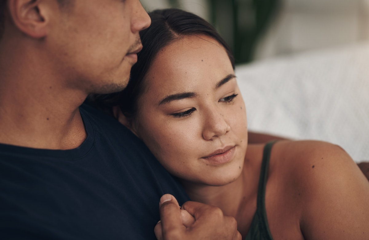 A girl whose partner's romantic past bothers her reflects on why she is so upset.