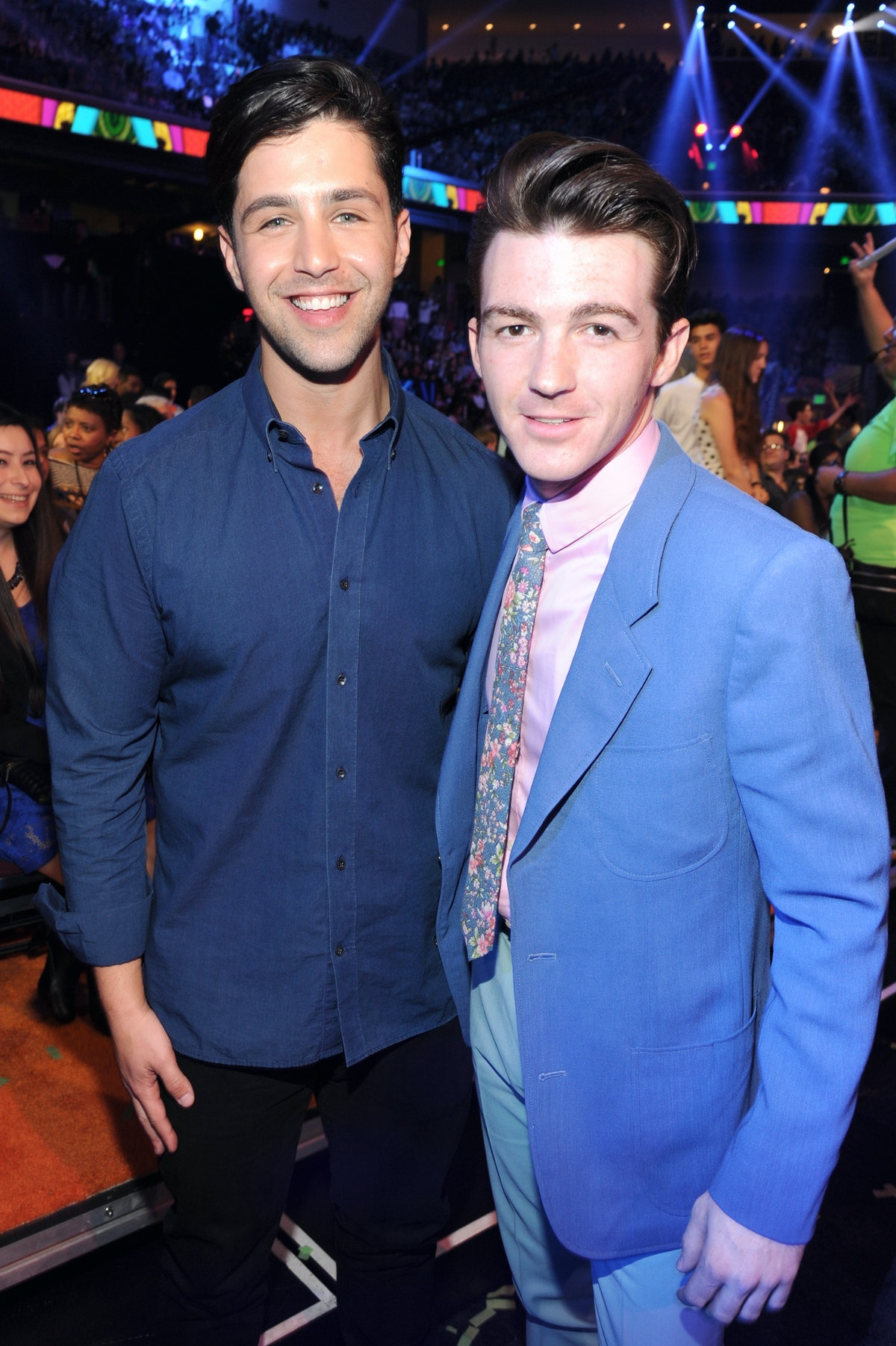 Actors Josh Peck and Drake Bell attend Nickelodeon's 27th Annual Kids' Choice Awards held at USC Galen Center on March 29, 2014 in Los Angeles, California.  (Photo by Kevin Mazur/KCA2014/WireImage)