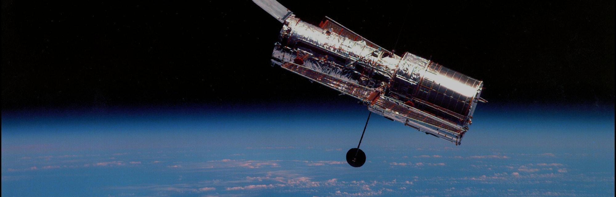 Vue du téléescope spatial Hubble, en février 2002. (Photo by NASA/API/Gamma-Rapho via Getty Images)
