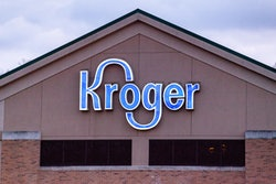ATHENS, OHIO, UNITED STATES - 2021/02/02: Kroger logo is seen at one of their stores in Athens. Busi...