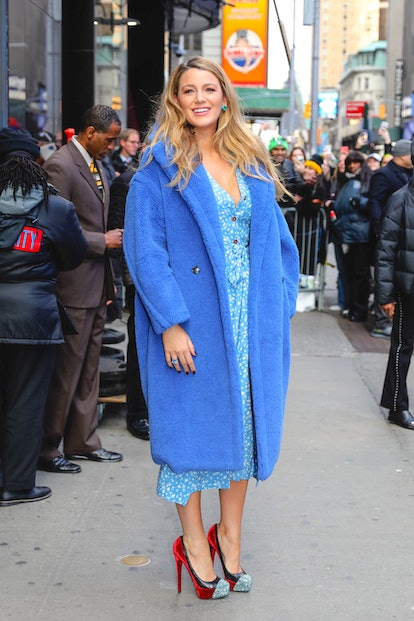NEW YORK, NY - JANUARY 28: Blake Lively is seen arriving at 'Live with Kelly and Ryan' show on Janua...