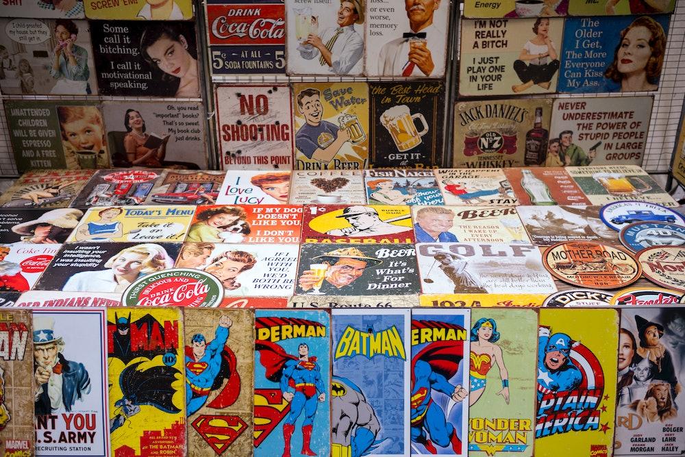 UNITED STATES - NOVEMBER 23: Magazines, cartoons, comics, Batman, Superman, Wonder Woman, Captain Am...