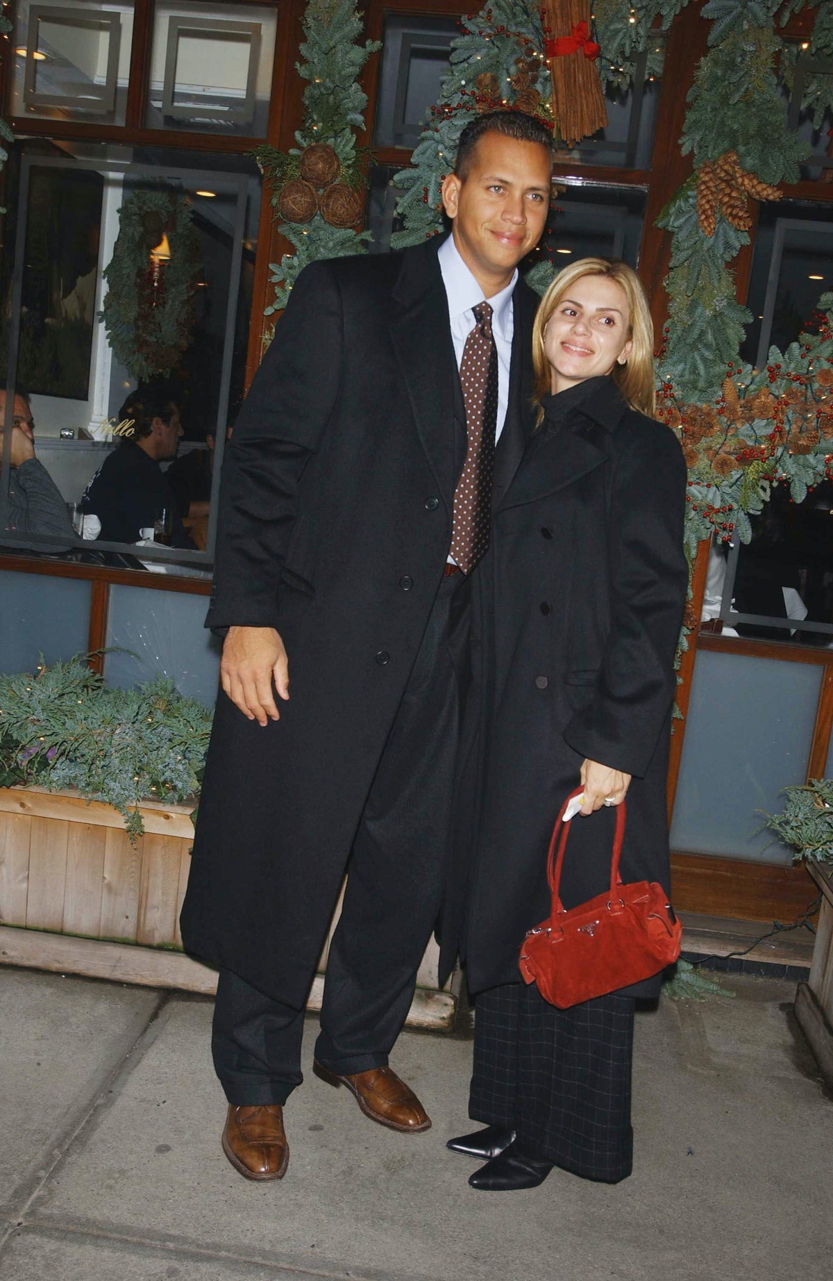 Baseball player Alex Rodriguez and his ex-wife Cynthia Scurtis are shown here together in Italy in 2003 — but the two aren't back together, and A-Rod isn't looking to date.