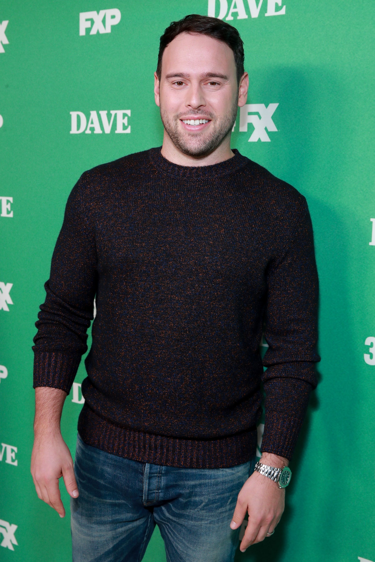 """Scooter Braun attends the premiere of FXX's """"Dave"""" at Directors Guild Of America on February 27, 2020 in Los Angeles, California. (Photo by Rich Fury/Getty Images)"""
