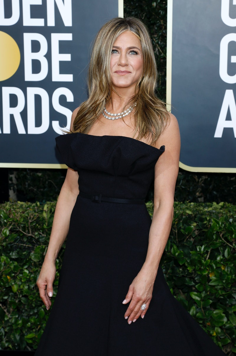 LOS ANGELES, CALIFORNIA, UNITED STATES - JANUARY 5, 2020 -                         Jennifer Aniston photographed on the red carpet of the 77th Annual Golden Globe Awards at The Beverly Hilton Hotel on January 05, 2020 in Beverly Hills, California.- PHOTOGRAPH BY P. Lehman / Barcroft Media (Photo credit should read P. Lehman / Barcroft Media via Getty Images)