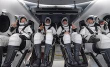 PANAMA CITY, FL. - MAY 02: In this NASA handout, NASA astronauts Shannon Walker, left, Victor Glover...