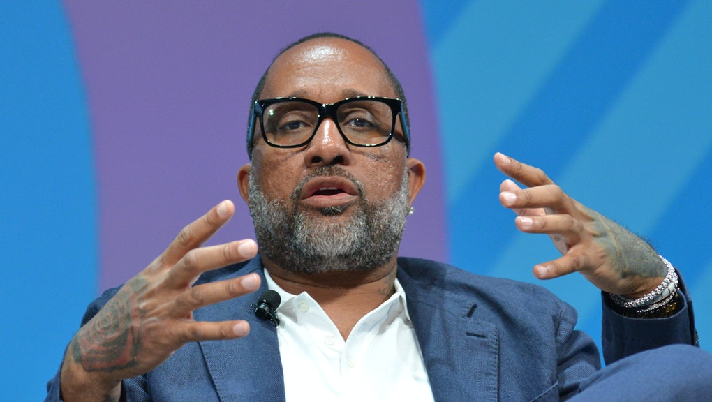 CANNES, FRANCE - JUNE 20: Netflix Producer Kenya Barris speaks on stage during the Omnicom session at the Cannes Lions 2019 : Day Four on June 20, 2019 in Cannes, France. (Photo by Christian Alminana/Getty Images For Cannes Lions)