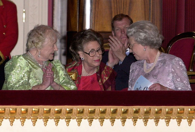 The Queen Mother (left) celebrated her 100th birthday at the ballet  joined in the Royal Box by her ...