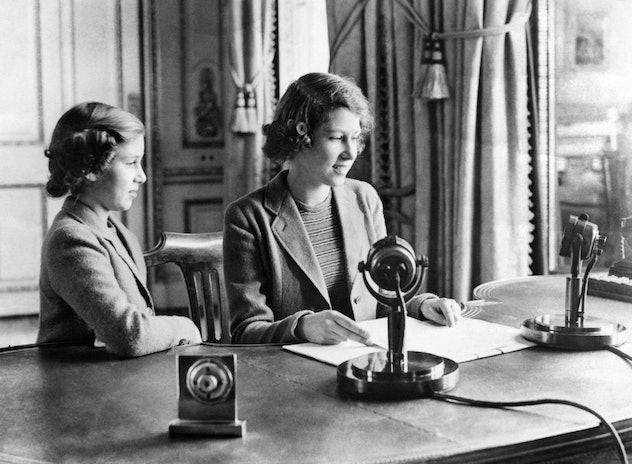Princess Elizabeth needed her sister beside her for her first broadcast.