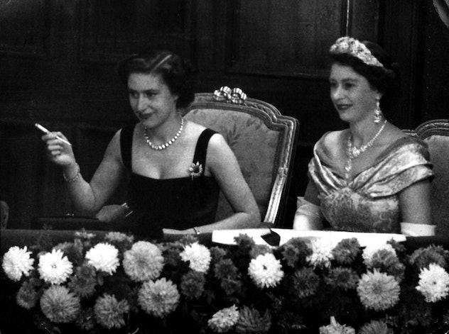 Princess Margaret looked entertaining.