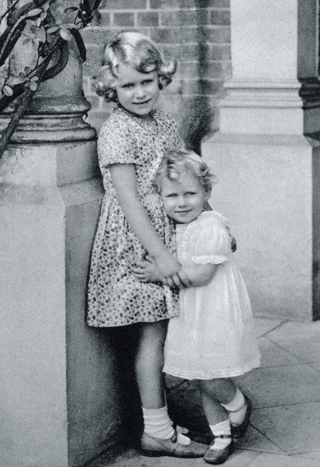 Princess Elizabeth was sweet to her baby sister from day one.