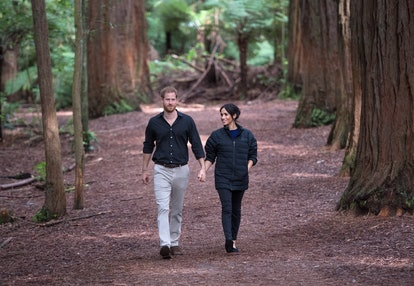 Prince Harry, Duke of Sussex and Meghan, Duchess of Sussex visit Redwoods Tree Walk
