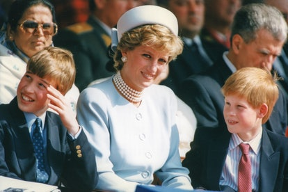 Prince William and Prince Harry with their mum, Princess Diana