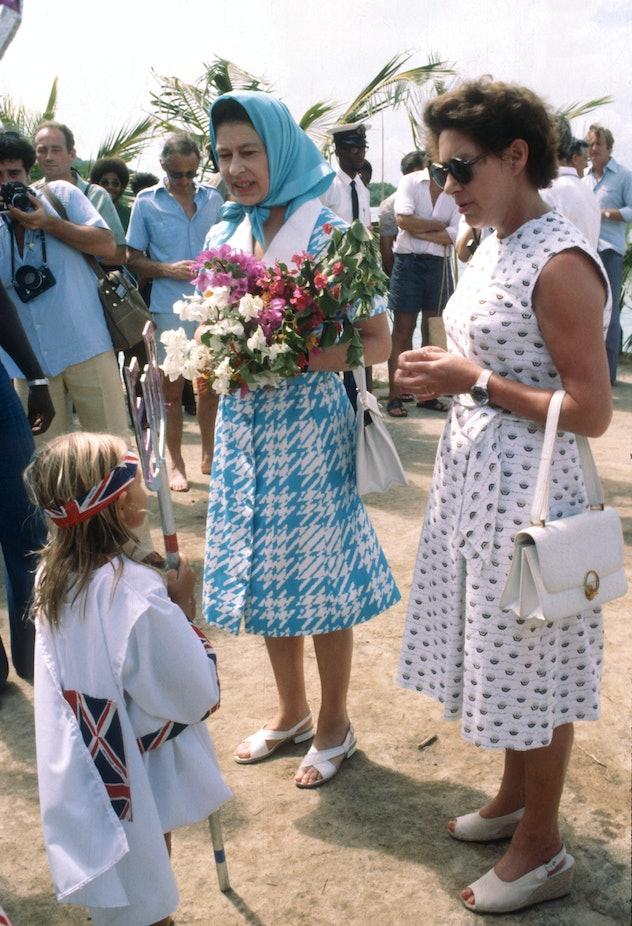 Queen Elizabeth joined her sister on Mustique.