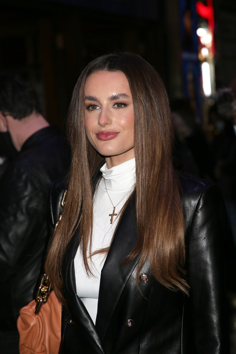 """LONDON, ENGLAND - DECEMBER 14:  Amber Davies seen attending the """"A Christmas Carol"""" opening night at..."""