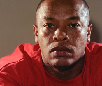 Studio portrait of American rapper and Record producer Dr Dre (Andre Young), Los Angeles, USA, 2000....