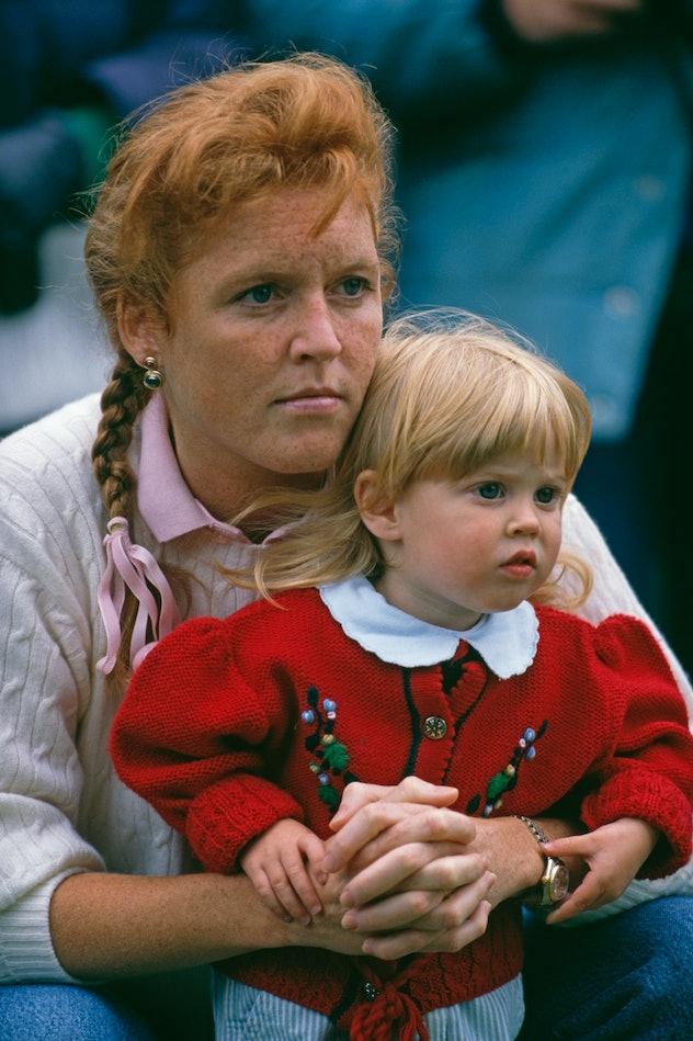 Princess Beatrice with her mom Sarah Ferguson.