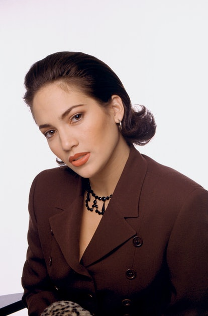Actress and singer Jennifer Lopez poses for a portrait circa 1992 in Los Angeles, California.  (Photo by Ron Davis/Getty Images)