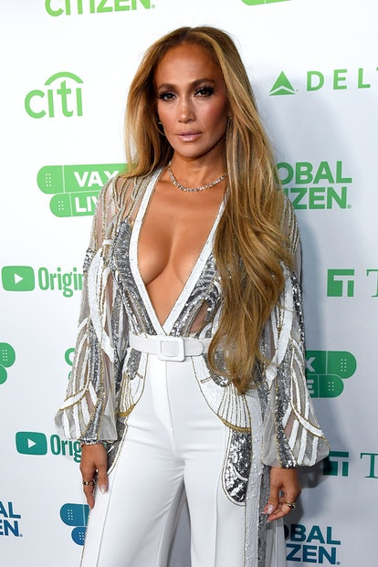 INGLEWOOD, CALIFORNIA: In this image released on May 2, Jennifer Lopez attends Global Citizen VAX LIVE: The Concert To Reunite The World at SoFi Stadium in Inglewood, California. Global Citizen VAX LIVE: The Concert To Reunite The World will be broadcast on May 8, 2021. (Photo by Kevin Mazur/Getty Images for Global Citizen VAX LIVE)