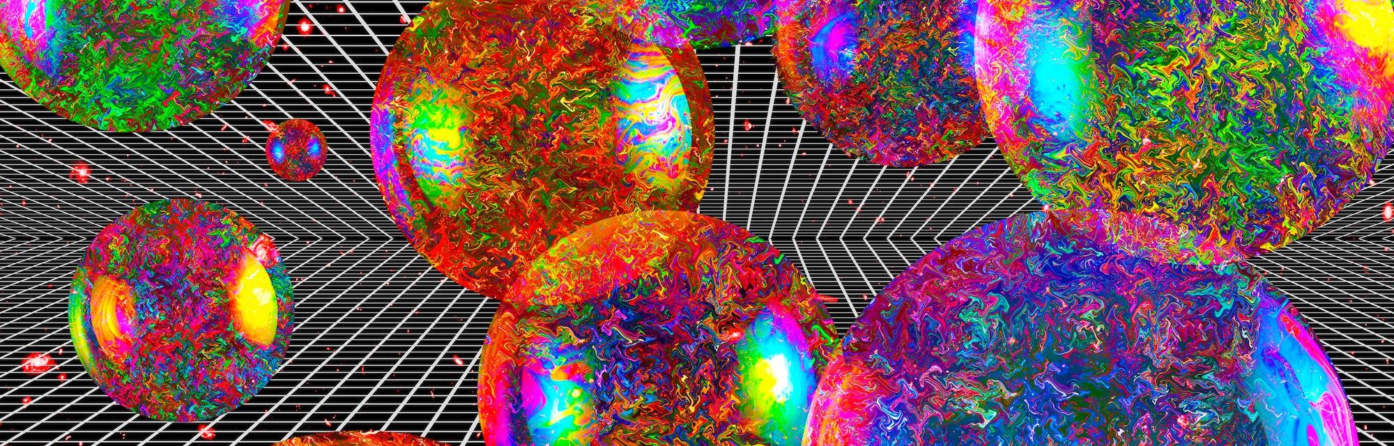 Multiverse, conceptual illustration.