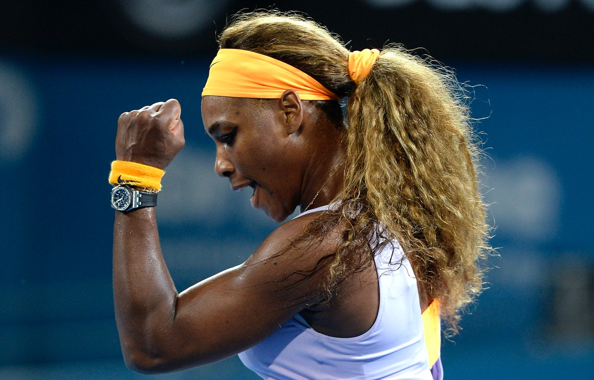 Serena Williams, shown here competing, is always dropping motivational gems!