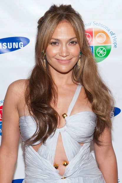"""Jennifer Lopez attends """"Samsung's 8th Annual Four Seasons of Hope Gala"""" at Cipriani Wall Street in New York City. (Photo by Lars Niki/Corbis via Getty Images)"""