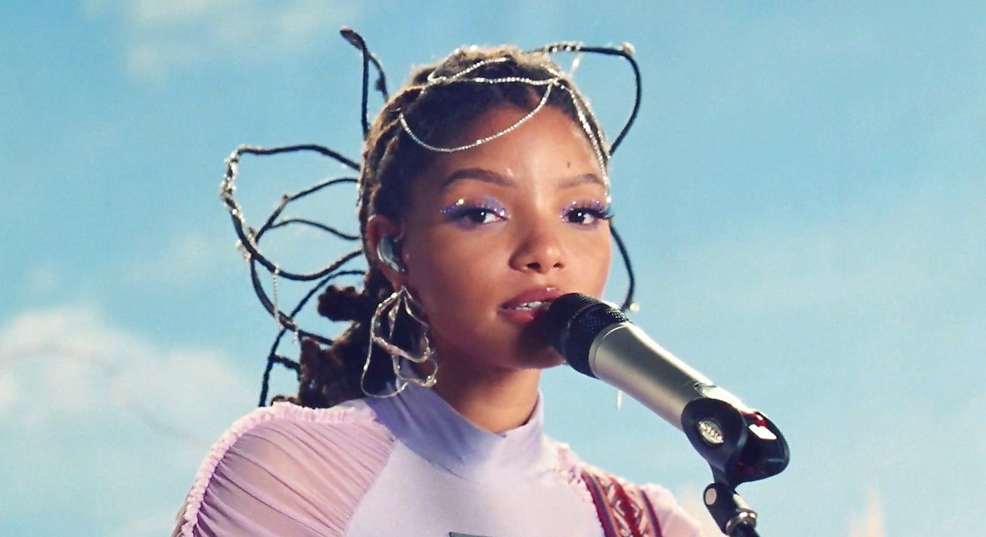 Halle Bailey of Chloe X Halle performs in 2020.