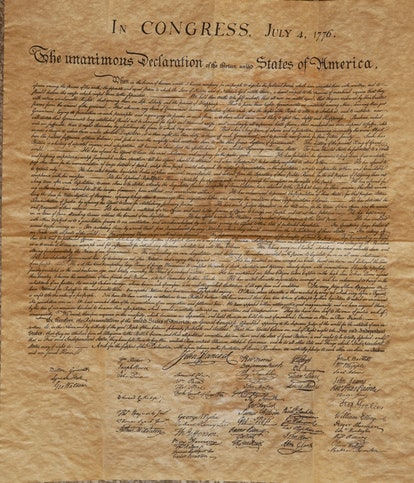 Photo by Tim Leedy 6/13/06Parchment copy of the Declaration of Independence, at the historical socie...