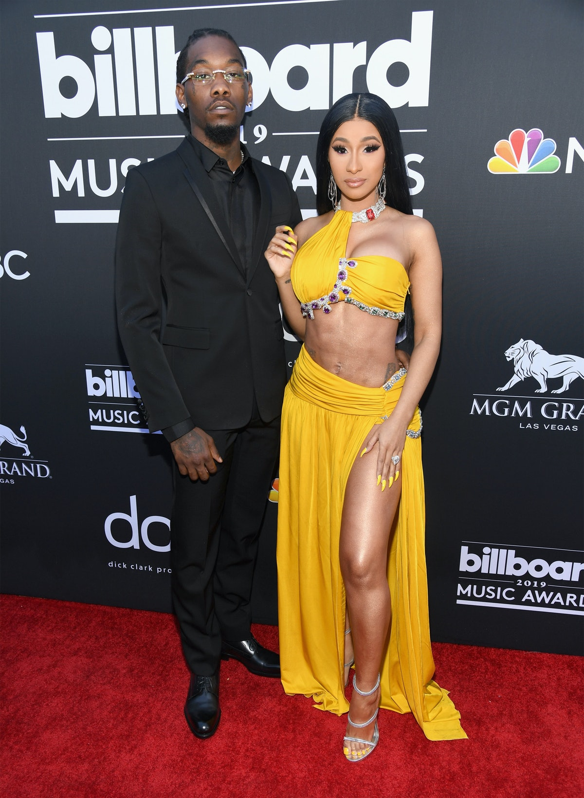 LAS VEGAS, NV - MAY 01:  (L-R) Offset of Migos and Cardi B attend the 2019 Billboard Music Awards at MGM Grand Garden Arena on May 1, 2019 in Las Vegas, Nevada.  (Photo by Kevin Mazur/Getty Images for dcp)