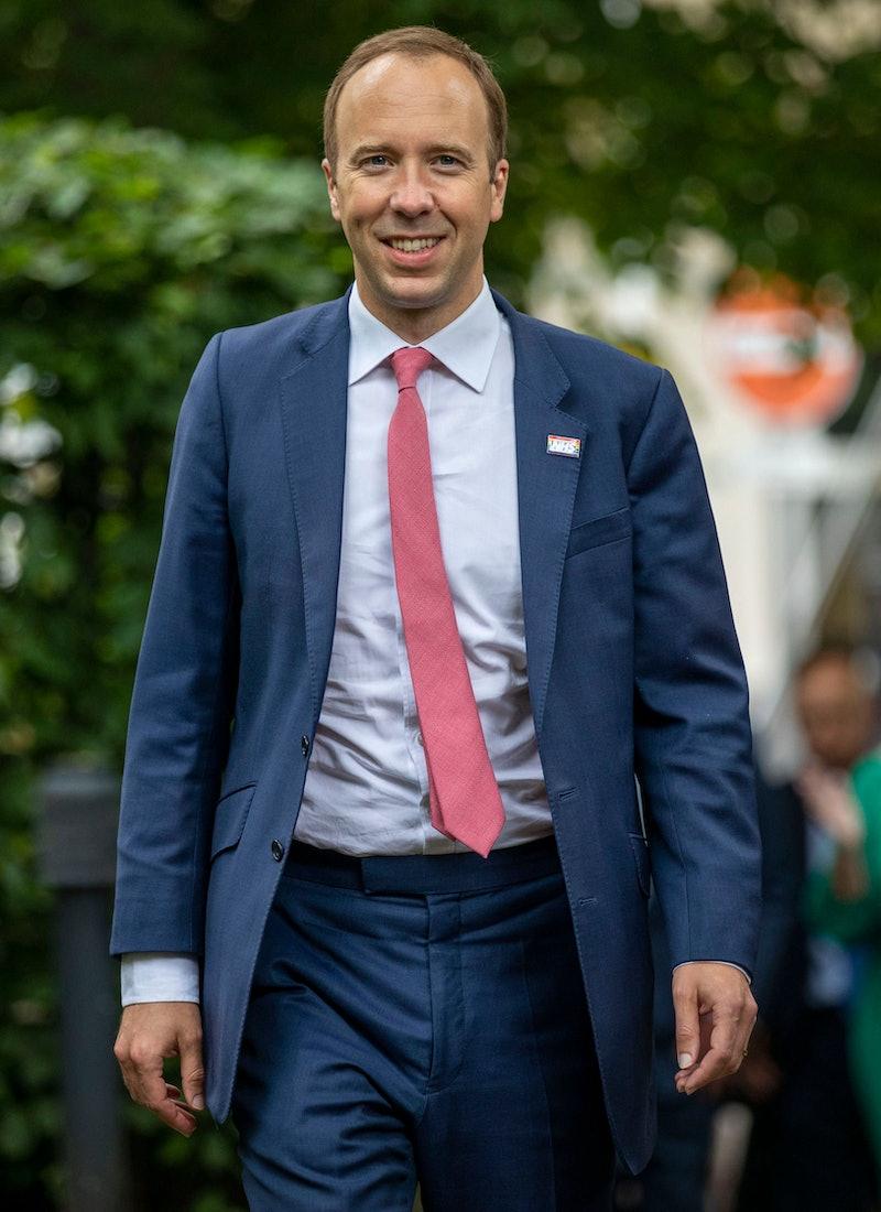Britain's Health Secretary Matt Hancock arrives for a visit to Chelsea & Westminster Hospital in London on June 17, 2021. (Photo by Steve REIGATE / POOL / AFP) (Photo by STEVE REIGATE/POOL/AFP via Getty Images)