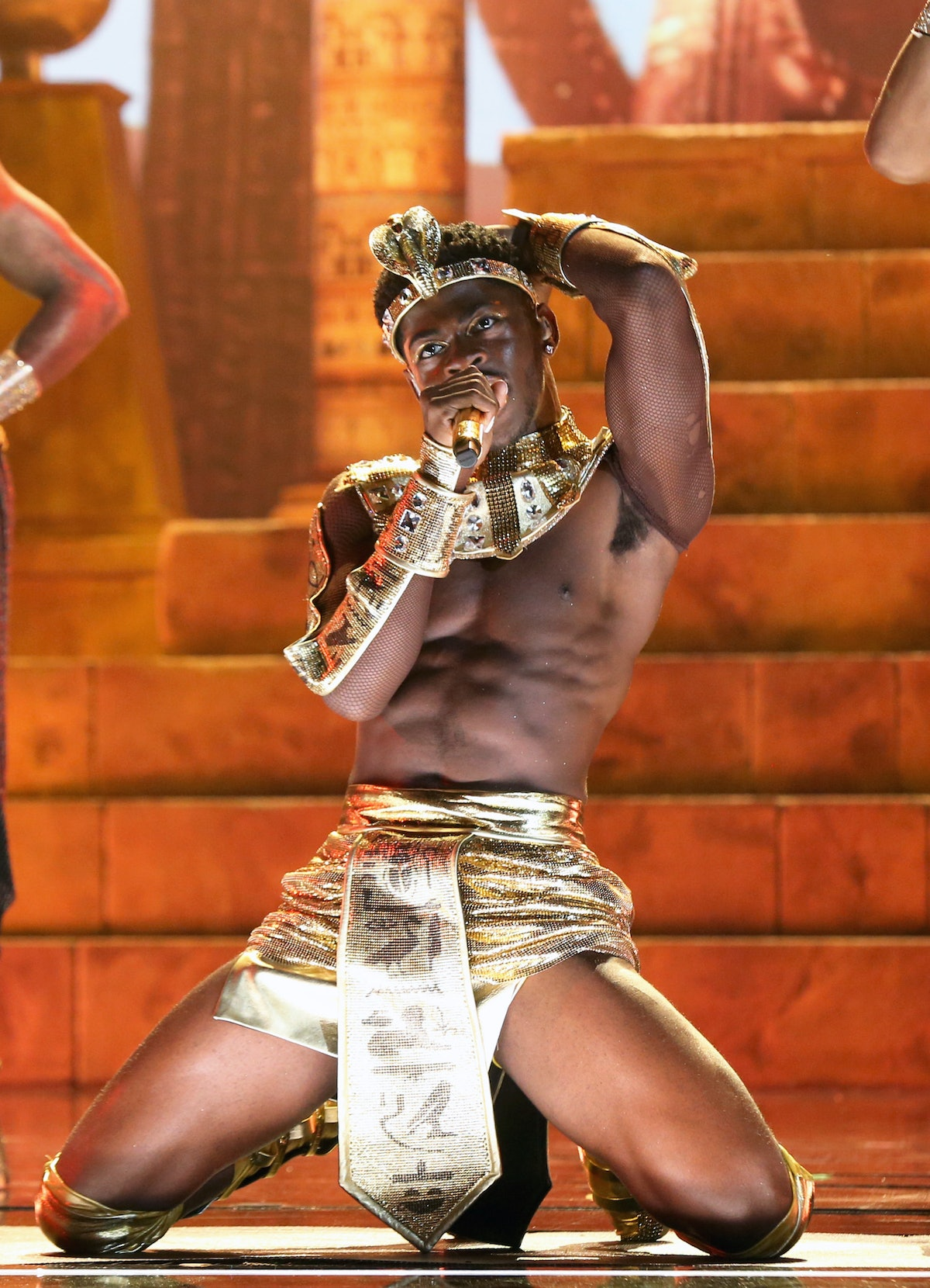 LOS ANGELES, CALIFORNIA - JUNE 27: Lil Nas X performs onstage at the BET Awards 2021 at Microsoft Theater on June 27, 2021 in Los Angeles, California. (Photo by Bennett Raglin/Getty Images for BET)